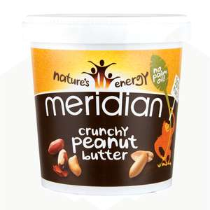Meridian Crunchy Peanut Butter 750g - £2.54 with 15% off @ Holland and Barrett - £1.95 c&c