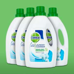Dettol Antibacterial Laundry Cleanser Fresh Cotton 1.5 L, Pack of 4 - SAVE 20%! £9.59 + £4.49 delivery non Prime @ Amazon