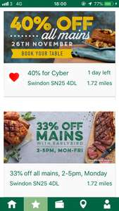 Harvester Cyber Monday 40% off Accessible via App
