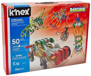 K'NEX Imagine Power Motorised Building Set for Ages 7 and Up, Construction Educational Toy, 529 Pieces @ Amazon Prime Exclusive £21.11