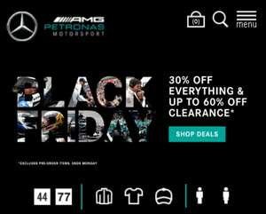 Up to 60% off at Mercedes AMG F1 Store