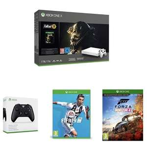 Bundle console Microsoft Xbox One X PUBG/ where Fallout 76 + 2nd Controller + Fifa 19 + Forza Horizon 4 + code GOW 4 £357.55 @ Amazon France