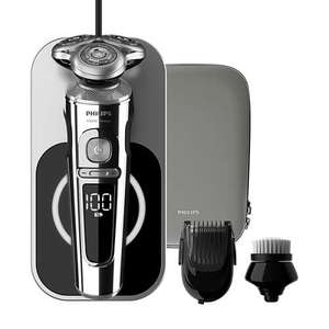 Philips Series 9000 Prestige Wet & Dry Shaver with Qi Charging Pad, Smartclick Beard Styler & Facial Cleansing Brush - £255 delivered