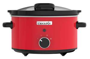 Crock-Pot CSC037 Slow Cooker with Hinged Lid, 3.5 Litre, Red [Energy Class A] 23.99 @ Amazon