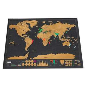 Scratch World Map Travel Edition 42cm by 30cm £1.79 Delivered w/code @ Tomtop