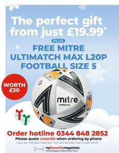 Subscribe to Four Four Two Magazine, get a Mitre Football @ My favourite magazones