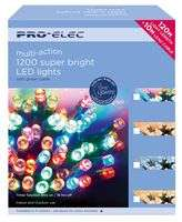 Pro-Elec 1200 LED Multi-Coloured Christmas Fairy Lights with Timer, 120m - £39 at CPC Farnell