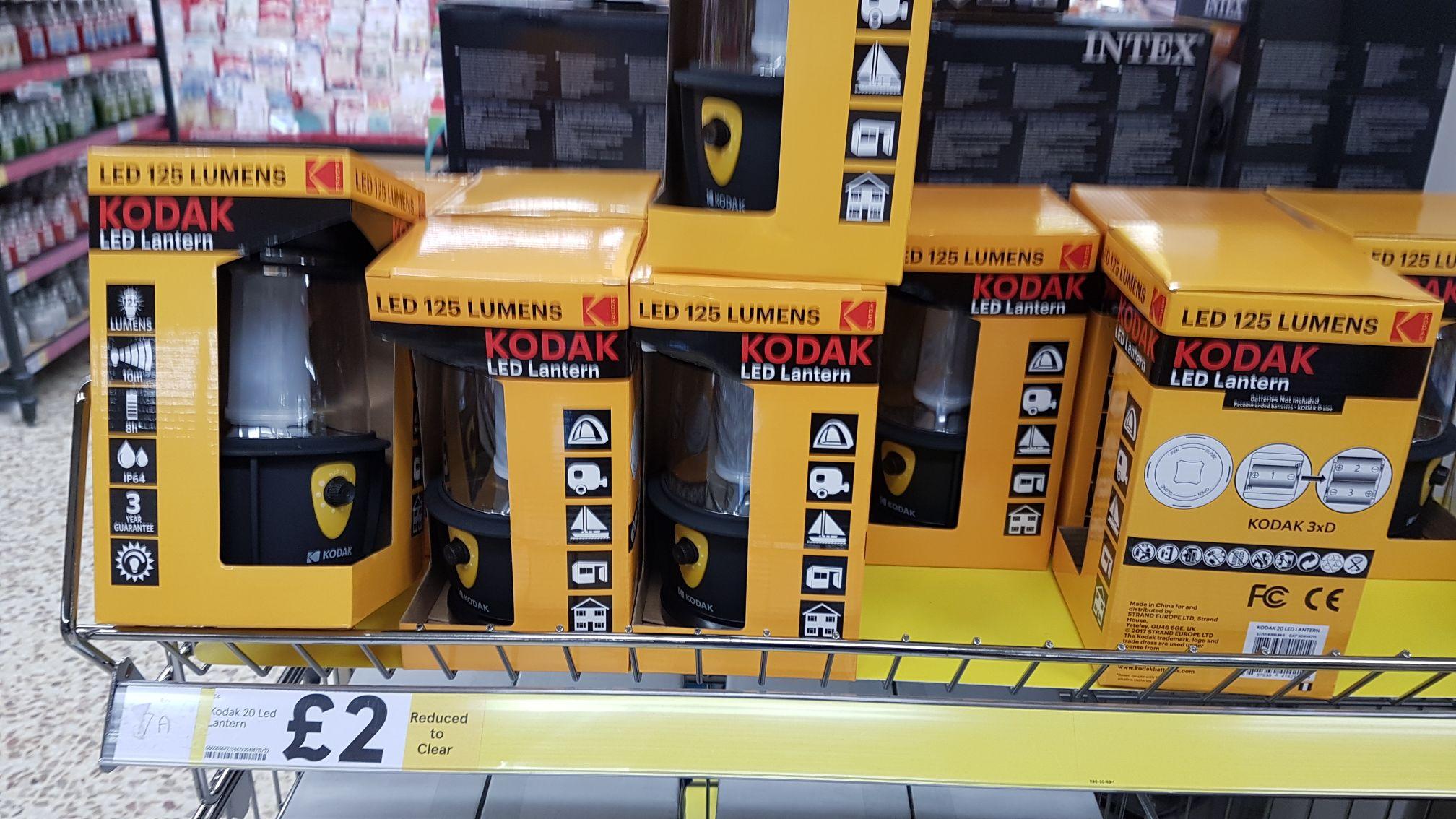Kodak 20 LED, 125 Lumens lantern £2 instore at Tesco, Milton Keynes (Kingston)