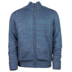 Saltrock - GAINSBOURG MEN'S KNITTED ZIP JUMPER Blue/Brown for £11.25 + delivery (free delivery over £30) @ Saltrock)