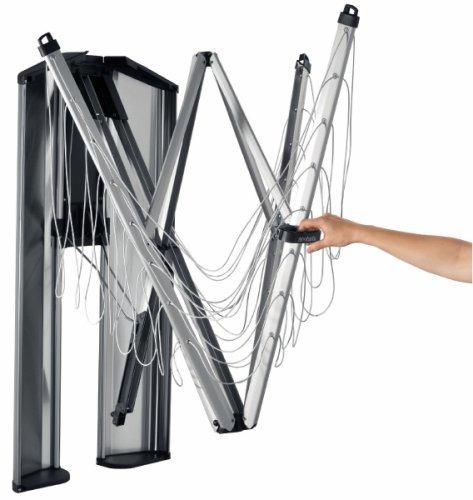 Brabantia WallFix Wall-Mounted Retractable Washing Line with Matt Steel Storage Box, 24 m - Silver - £107.14 @ Amazon