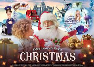 20% off Santa Sleepovers at Alton Towers ~ Hotel, Panto, Waterpark, Rides, Dinner, Meet Santa & more from £167 for family of 4