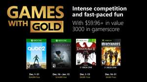 Xbox Live Games with Gold December 2018 - QUBE 2/Never Alone/Dragon Age 2/Mercenaries