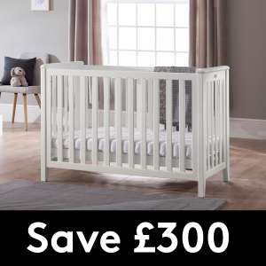 SILVER CROSS ONLINE EXCLUSIVE COT AND MATTRESS BUNDLE SPECIAL PROMOTION NOW £175.12