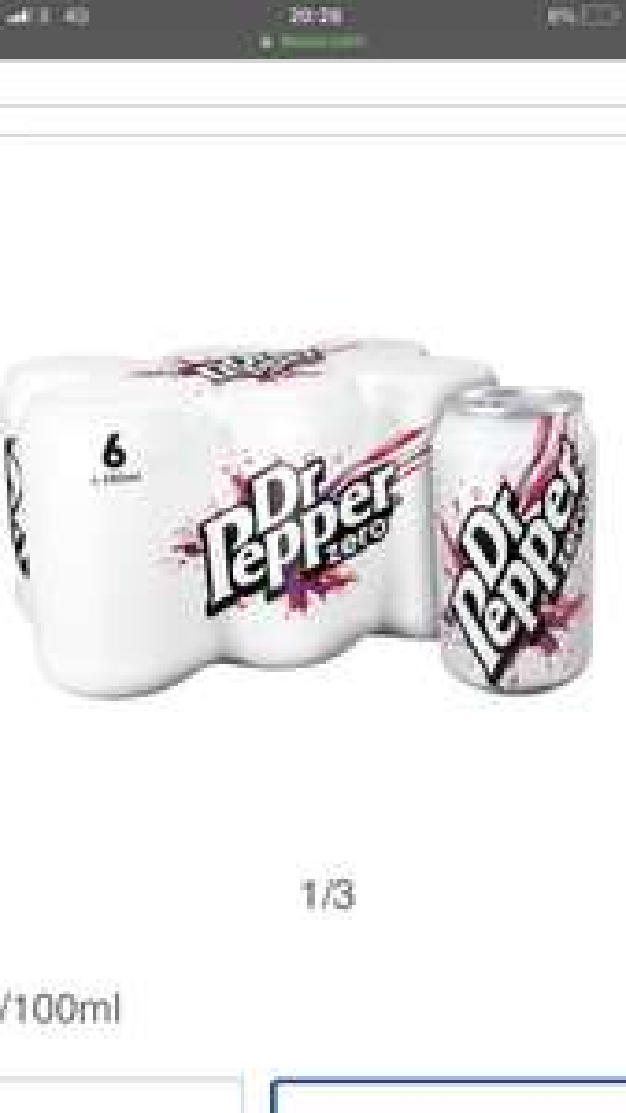 6 Pack of Dr pepper/Lilt/Fanta Half Price £1.77 was £3.55 regular & sugar free @ Tesco
