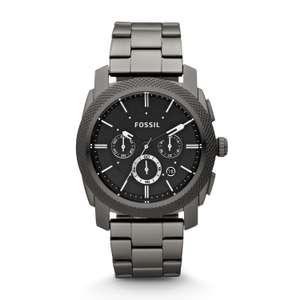 Fossil Chronograph Smoke Stainless Steel Watch REDUCED FURTHER TO £59.15 With Code @ FossilUK