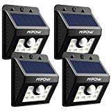 PACK OF 4 - MPOW 8 LED Solar Lights, Mpow Solar Powered Security  Light Motion Sensor with 3 Modes