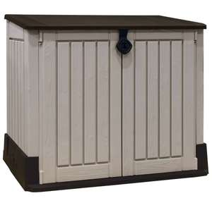 Keter Store-It Out Midi Outdoor Plastic Garden Storage Shed, Beige and Brown £59.99 @ Amazon