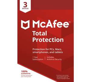 McAfee Total Protection 3 Device [Online Code] £8.99 Amazon