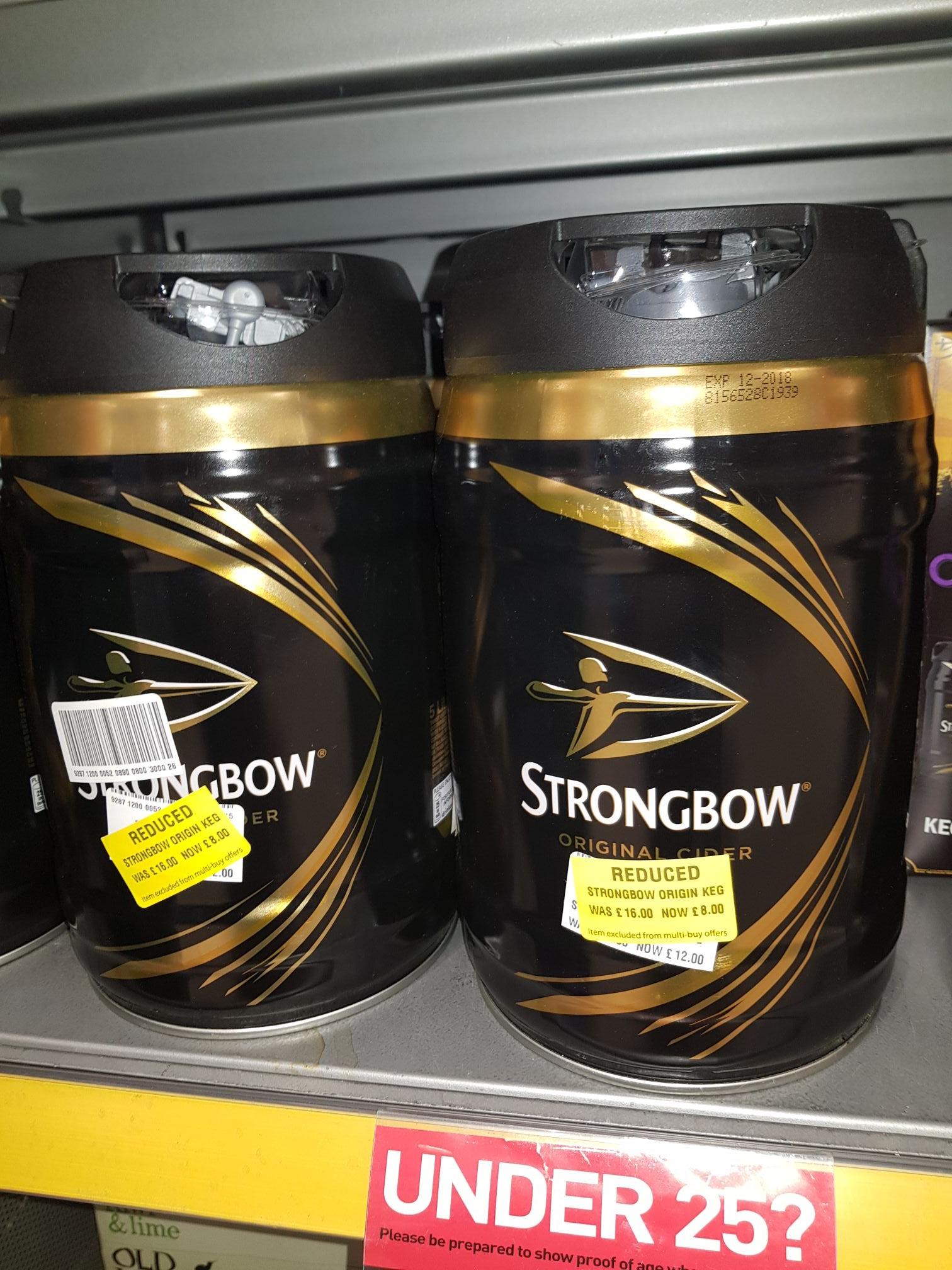 Strongbow 5 litre keg £8 instore @ morrisons