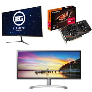 "Element Gaming 27"" QHD 144hz Monitor £212.47 / LG 29"" Ultrawide 2560x1080 £199.43 / RX 570 8GB + 2 Games £136.12 @ eBay / Ebuyer (See OP)"