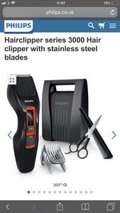 Phillips Stainless Steel Hair Clippers - BARGAIN! £18 was £30