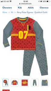 Harry Potter pyjamas - quidditch outfit £3.72 with code plus £3.95 delivery @ Character.com