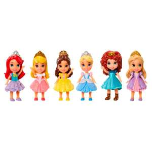 Disney Princess 3-Inch Mini Doll (6-Pack) - £12.50 (Was £25) @ Tesco (Free C&C Available on Select Dates/Times / £4 Home Delivery)