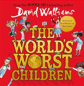 Free David Walliams The World's Worst Children  Audiobook CD  narrated by David Walliams with Saturday Daily Mail on 1st Dec @ Tesco