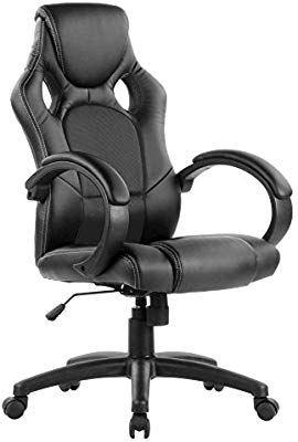 Eliza Tinsley PU Racing Style Gaming Chair - Black - £63.96 @ Amazon