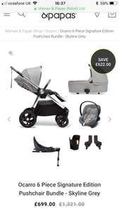 Ocarro 6 Piece Signature Edition Pushchair Bundle £699 @ Mamas & papas