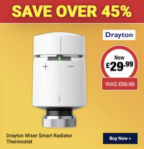 Drayton Wiser Smart Radiator Thermostat at City Plumbing for £35.99