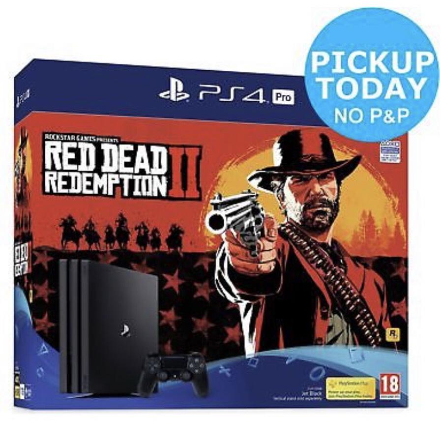 Sony PS4 Pro 1TB Console & Red Dead Redemption 2 Bundle £299.99 @Argos Ebay w/code