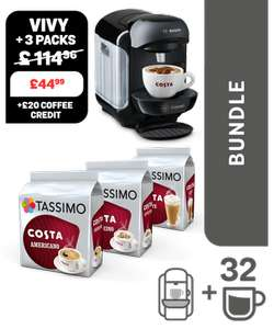 TASSIMO Vivy and 3 drinks Bundle £34.99 with registration voucher @ Tassimo - see op for info