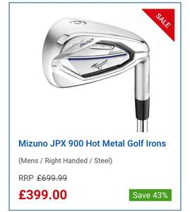 Mizuno JPX 900  Hot Metal Golf Irons £399 at  clubhousegolf