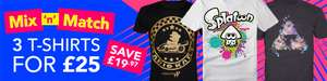 Mix and Match 3 T Shirts for £25 at Nintendo Store (Free delivery)