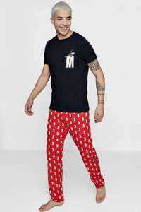 Disney Mickey Mouse Pyjama Set £8 @ Boohooman.com with Free Delivery