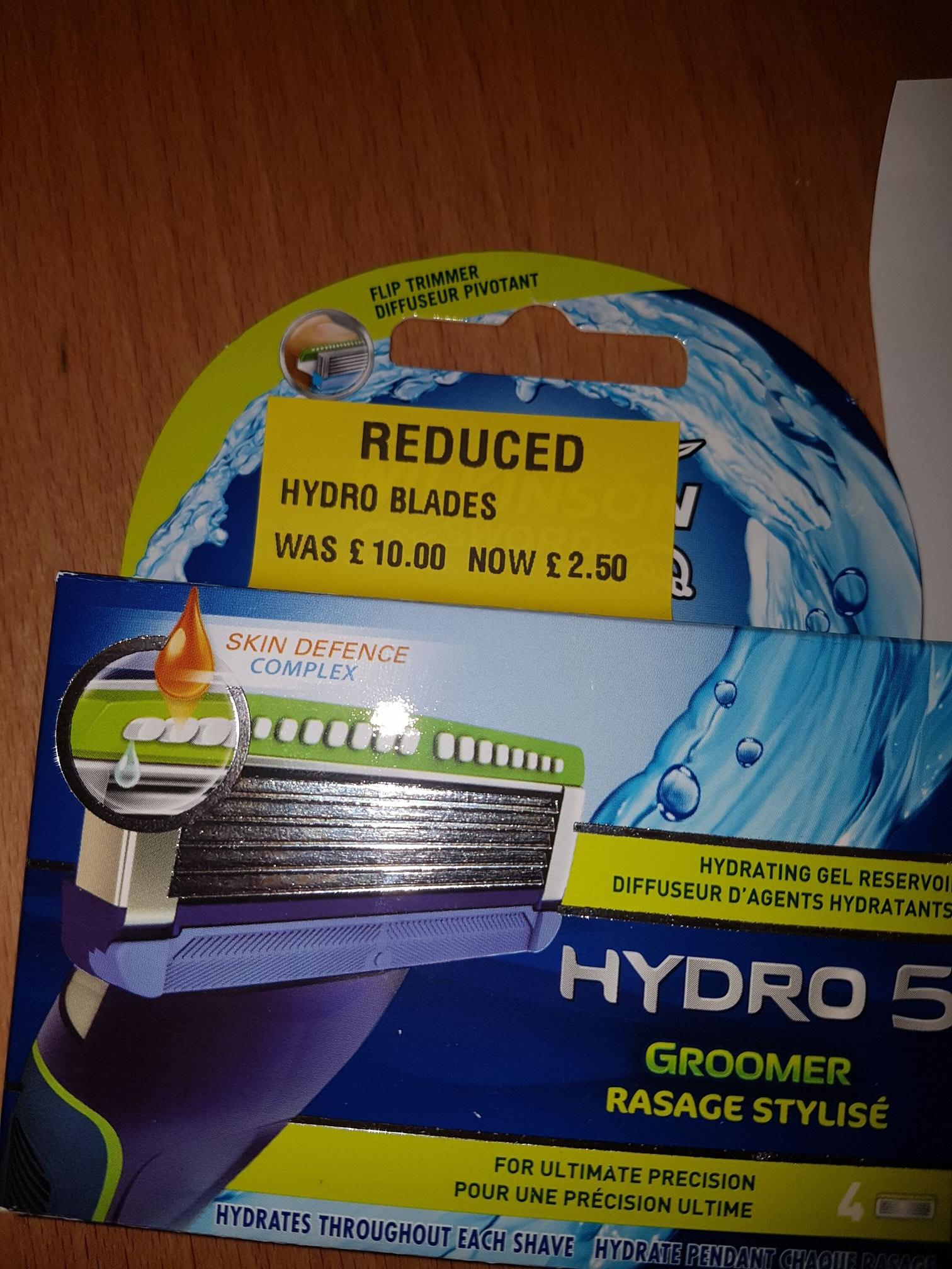 Wilkinson sword Hydro 5 blades £2.50 @ morrisons speke