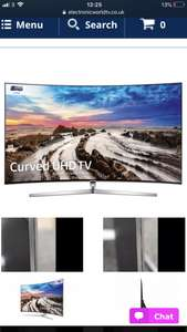 Graded - 65 Samsung UE65MU9000 Curved Certified 4K Freeview HD Smart LED HDR TV £929.99 was £2,999.99 @ Electronic world tv