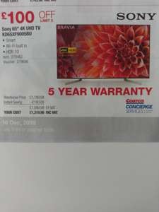 "Sony 65"" 4K UHD TV KD65XF9005BU instore at Costco for £1319.88"