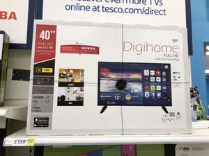 """40"""" Digihome FULL HD 1080p Smart TV Freeview Play LED £199 @ Tesco"""