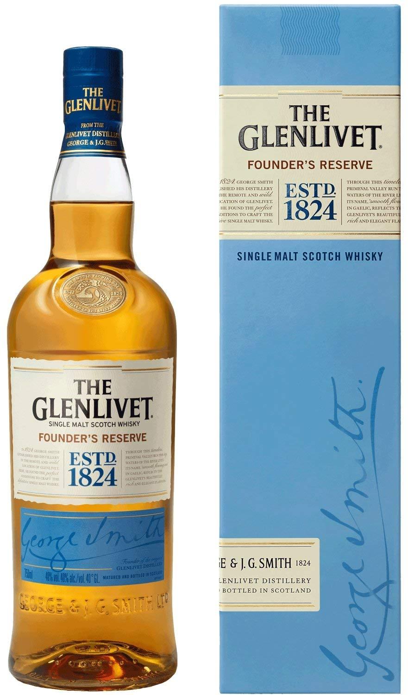 The Glenlivet Founder's Reserve Single Malt Scotch Whisky, 70 cl @ Amazon Lightning Deal £18.99