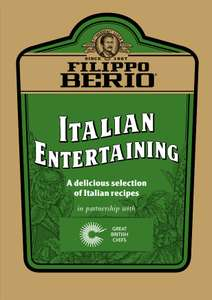 Free Fillipo Berio Recipe Booklet Download or Free Hard Copy Delivered For Free!