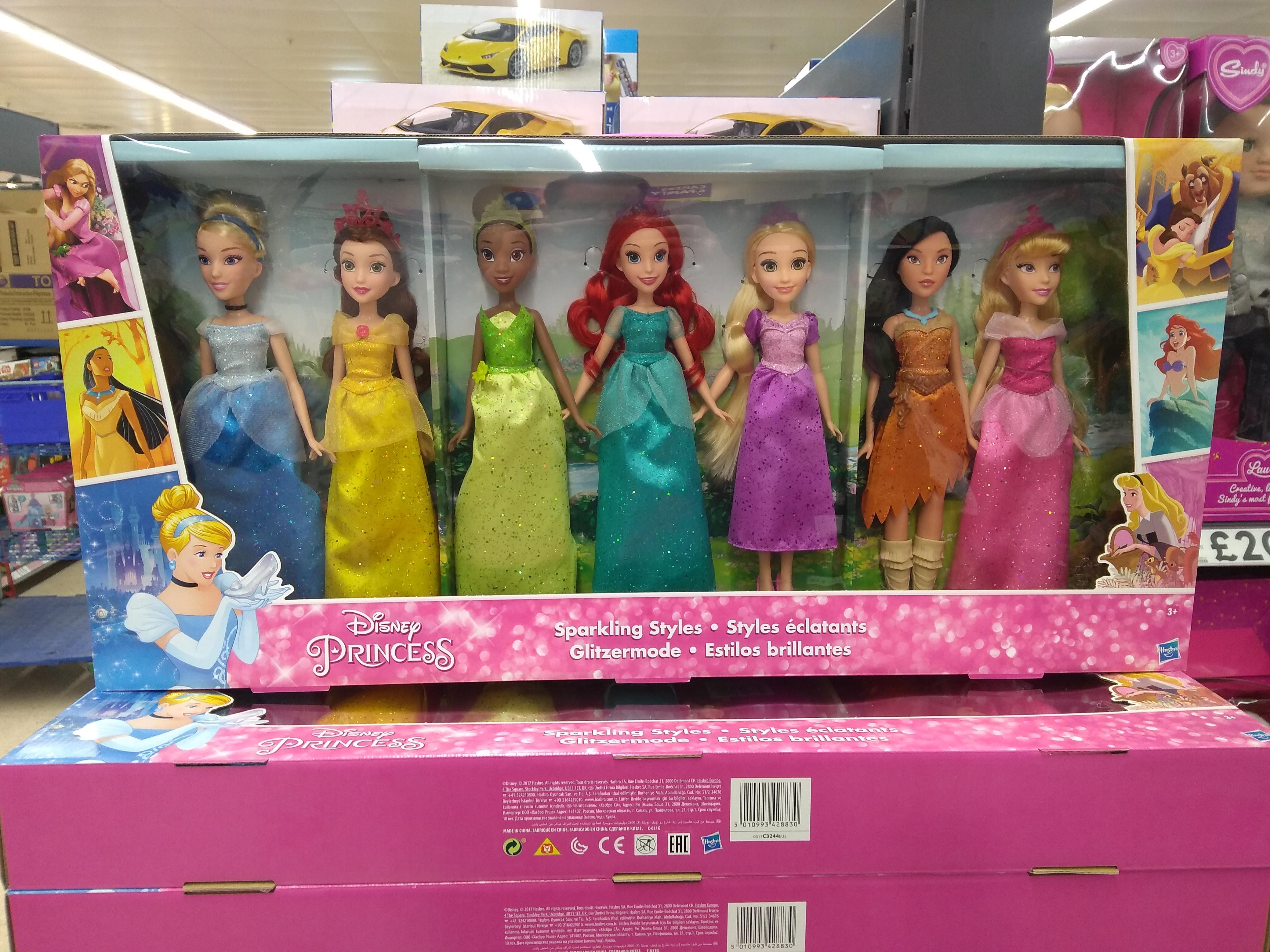 Disney Princess 'Sparkling Styles' Set of 7 Dolls - £40 (Was £80) Instore @ Tesco Extra