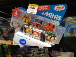 Thomas & Friends MINIS Steelworks Launcher (Incl. 4 x MINIS) - £10 (Was £15) Instore @ Tesco Extra | Item Exclusive to Tesco