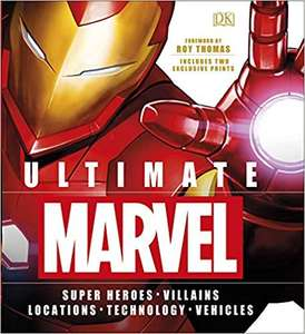 Ultimate Marvel hardback book with 2 exclusive prints just £5.60 with code and free click and collect at The Works