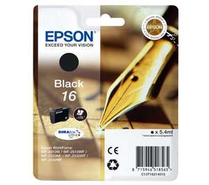 50% off Epson Black Ink Cartridges at Currys w/code Eg EPSON 378 Squirrel Black Cartridge £4.73 / EPSON Pen Crossword T1621 £5.49 @ Currys
