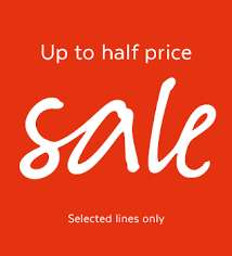 Tu @ Sainsburys & Argos upto half price sale online and instore has started!