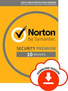 Norton Security Premium 2019 - 10 Devices - 1 Year - £16.24 @ Amazon