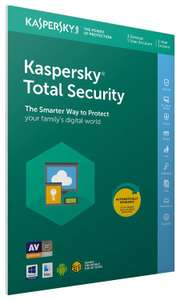 Kaspersky Total Security 2019 | 3 Devices | 1 Year | PC/Mac/Android | PRIME / + 99p non Prime @ Amazon