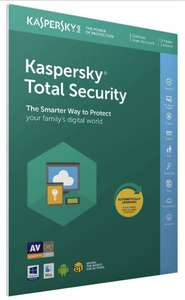 Kaspersky Total Security 2019, 3 Devices, 2 Years, PC/Mac/Android @ Amazon for £19.99 Prime / + 20p non Prime